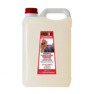MD10 Yorkshire Terrier Shampoo 5 Litre (20 Litre Diluted) Afghan, Australian Silky Terrier, Shih Tzu
